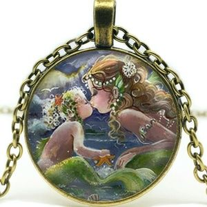 Jewelry - Necklace- NEW- Mermaid Mother and Child